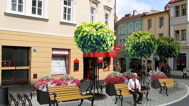 Ve Vodní ulici v Kroměříži vyroste nová oddechová plocha.