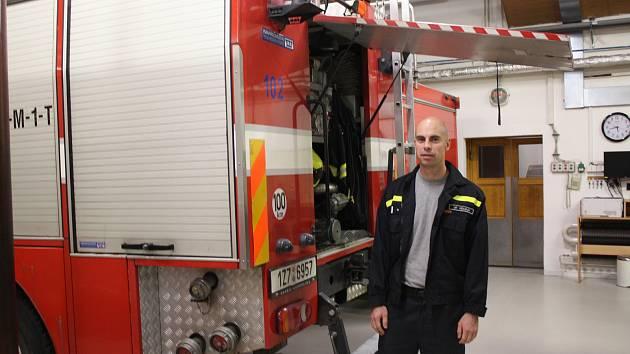 Kroměřížský profesionální hasič Jiří Očadlík.