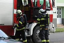 V Morkovicích se konalo cvičení hasičů. Zachraňovali osoby z penzionu, ve kterém hořelo.