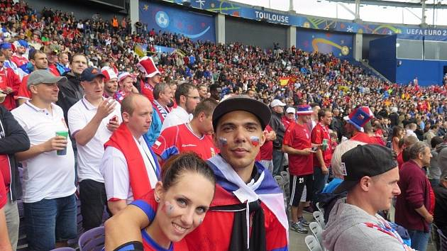 Přímo na stadionu ve francouzském Toulouse sledovala první zápas české reprezentace na fotbalovém Euru 2016 proti Španělsku redaktorka Deníku Soňa Ličková.