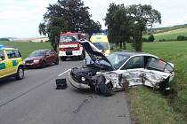 Dopravní nehoda u Roštína.