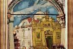 Výstava Mánes na zámku v Holešově. Na snímku Josef Liesler Kostel sv. Vlacha v Dubrovníku 1948 olej na plátně.