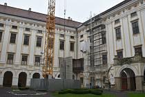 Opravy Arcibiskupského zámku v Kroměříži.