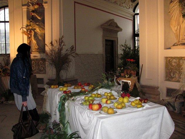 Rotunda v Květné zahradě se proměnila v malebnou zahradu plnou vzácných odrůd jablek a hrušek.