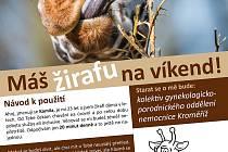 Zdravotníci Kroměřížské nemonice podpořili zavřenou zlínskou ZOO.