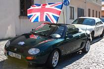 Sraz příznivců značek Rover, MG a Jaguar v Kroměříži