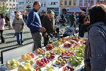 Jablečný den a farmářské trhy na Velkém náměstí v Kroměříži, 16. října 2021