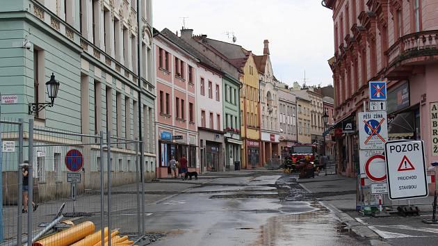 Přívalové deště  v Kroměříži - 22. 6. 2019