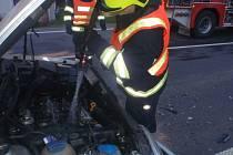 Po srážce aut na Bystřicku skončily v nemocnici dvě zraněné ženy