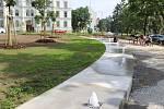 Nově zrekonstruované náměstí Míru v Kroměříži.