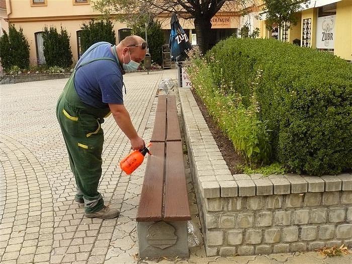 Dezinfekce venkovních prostor města Bystřice pod Hostýnem