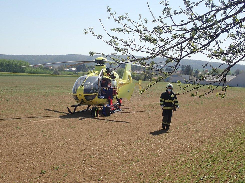 Vážná dopravní nehoda u Morkovic, 21.4.2020.