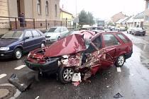 Dopravní nehoda v Kroměříži.