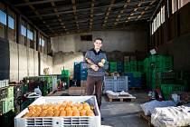 Moštárna v Nětčicích. Majitelem je mladý podnikatel Jan Karger.