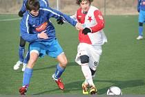 Nejmladší hráč Hanáků Marek Havlík se zapsal střelce.