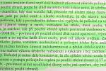 Výňatek z odůvodnění rozsudku Okresního soudu v Kroměříži, který zprostil Jaroslava Odstrčila obžaloby ze zločinu násilí proti úřední osobě.