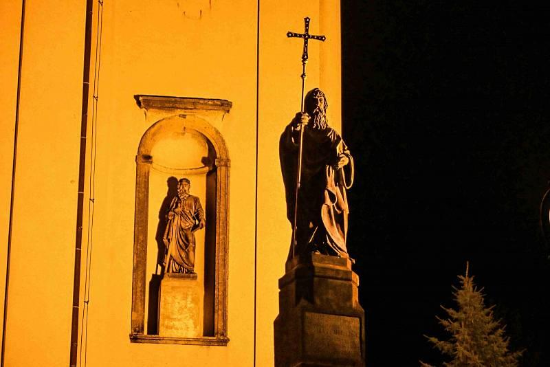 Svatý Hostýn v noci