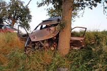 Nehoda dvou osobních automobilů u Kostelan.