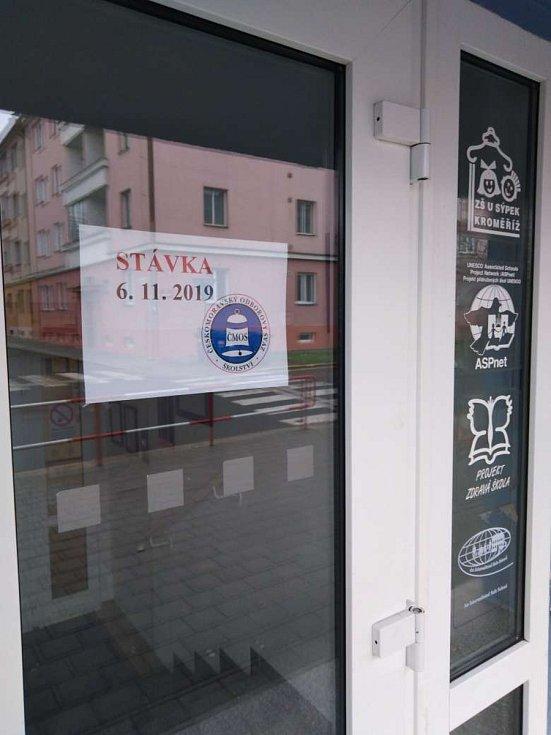 Základní škola U Sýpek v Kroměříži zůstane ve středu uzavřena.