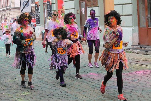 Vybarvený běh v Kroměříži