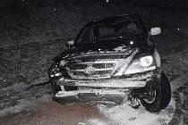 Na křižovatce u Beměrova došlo k havárii osobního auta zn. Kia Sportage