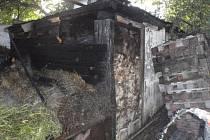 Požár kůlny v Kroměříž likvidovali hasiči dvacet minut
