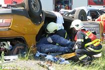 Dne 26. května 2009 proběhlo na dálnici v Kroměříži cvičení složek integrovaného záchranného systému. Fingovaná nehoda dvou aut, při které jedno z nich skončilo na střeše, zaměstnala dvě jednotky hasičů, policii i tři sanitky.