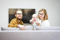 Anna Handlová s rodinou.