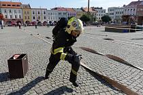 Kroměříž Soutěž hasičů Zlínského kraje v TFA na Velkém náměstí.
