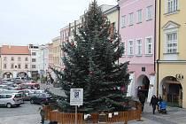 Vánoční jarmark na náměstí v Kroměříži