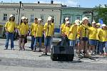 Na náměstí se představila i mladá formace Banana Vox z Holešova.
