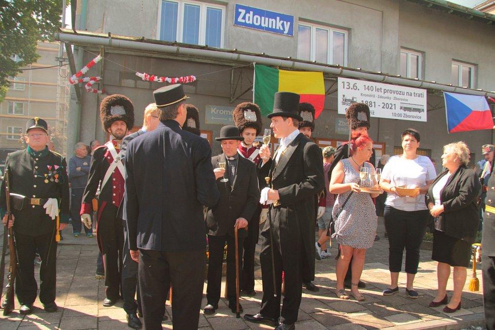 140 let dráhy Kroměříž - Zborovice. Snímky jsou z oslav ve Zdounkách.