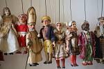 Výstavy Loutky a loutková divadla  na zámku v  Holešově.