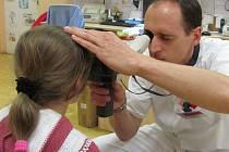 Ambulance dětského očního oddělení v Kroměříži léčí oční vady především dětským pacientům.