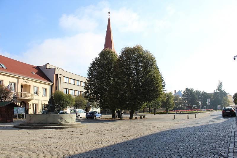 Náměstí Bystřice pod Hostýnem 9.10. 2021