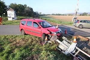 Nehoda u přejezdu v Kotojedech