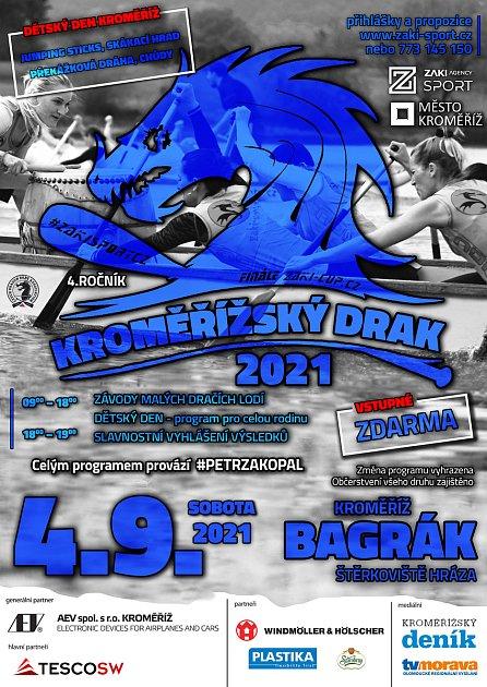 Závody dračích lodí se uskuteční vsobotu 4.září na Bágráku.