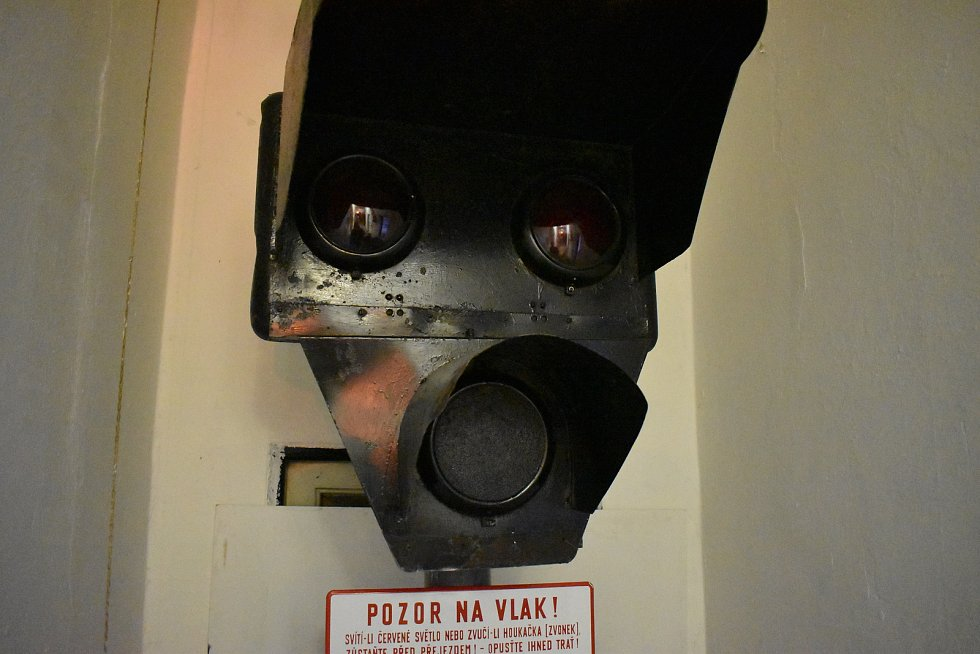 Muzeum Kroměřížské dráhy v areálu místního nádraží.