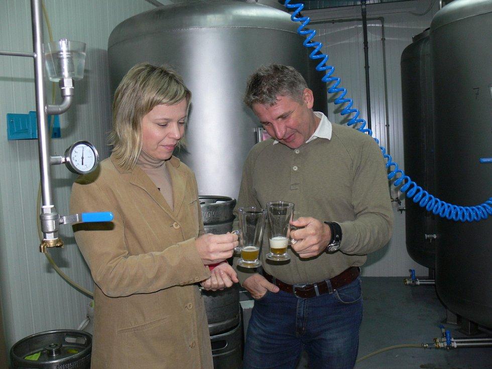 Fotografie z nového pivovaru Kroměříž, kde vaří pivo Maxmilián.