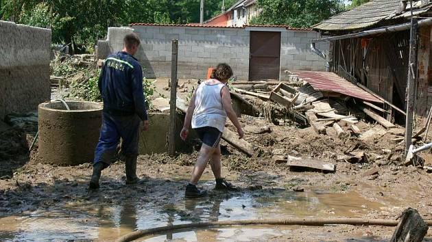 Záplavy na Kroměřížsku.