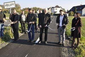Otevření cyklostezky mezi Holešovem a Přílepy