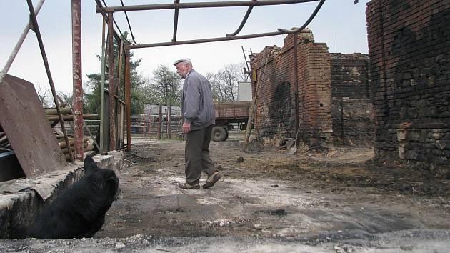V hulínské stáji uhořeli během požáru, který zavinila v sobotu 2. dubna mladá dívka, čtyři koně.