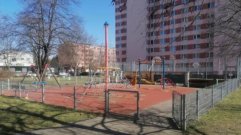 Dětská hřiště v Kroměříži v době v lockdownu