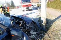 Dopravní nehoda ve Střížovicích.