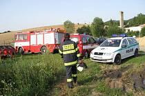 Tragická nehoda u obce Lískovec, jeden muž zemřel, druhý byl těžce zraněn.
