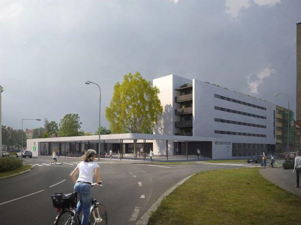 Vizualizace parkovacího domu v Kroměříži.