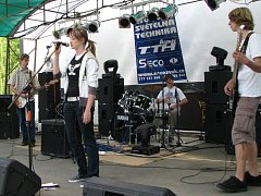 Rockový Open Fest v Hulíně.
