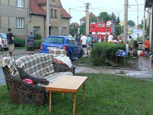 Přívalový déšť potrápil také na Kroměřížsku.