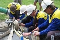 V požárním sportu se v Dobroticích u Holešova utkalo celkem 27 týmů dobrovolných hasičů