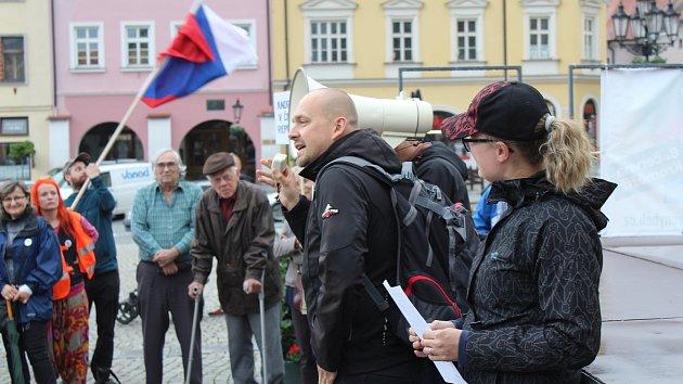 Celorepublikový protest za nezávislost justice v Kroměříži